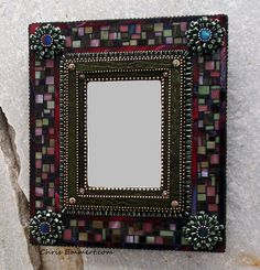 """Violaceous"" Mixed Media Mosaic Mirror by Chris Emmert, via Flickr"
