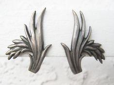MING'S Honolulu Classic RICE PLANT Earrings screw back by ZeART, $285.00