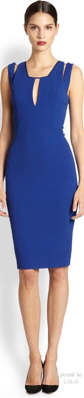 Antonio Berardi - Electric Blue Keyhole Dress