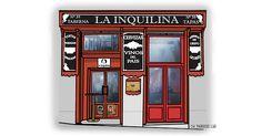 Madrid, Frame, Home Decor, Gourmet, Wine, Countries, Facades, Restaurants, Illustrations
