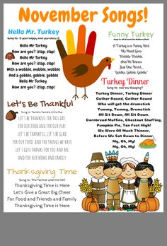 Thanksgiving songs for kids. Thanksgiving songs for kids. Thanksgiving songs for kids. Thanksgiving songs for kids. Thanksgiving Songs For Kids, Thanksgiving Crafts For Kids, Thanksgiving Turkey, Thanksgiving Prayer, Thanksgiving Cookies, Thanksgiving Decorations, Fall Crafts, Fall Preschool, Preschool Songs