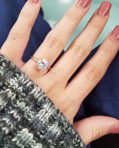 MiaDonna & Co.'s 2.0ct round cut diamond Solitaire Engagement Ring in rose gold wins the day!