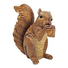 Outdoor Décor-Design Toscano Woodland Squirrel Statue Chomper Multicolored -- You can find out more details at the link of the image.