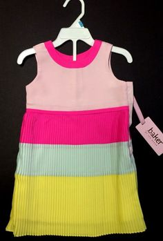 ed712980d6c2 Beautiful Baby Girl Tri-Color Pleated Dress by Ted Baker NWT  DressyWedding  Cute Baby