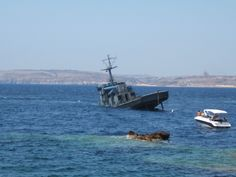 P29 Patrol Boat on its way to the bottom