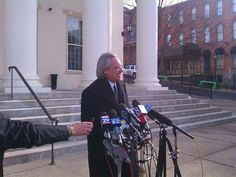 Attorney Tom Kline addresses the media after the Sandusky hearing - 01.10.13 (WHP-TV)