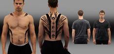 Divergent Theo James, Divergent Four, Divergent Funny, Divergent Trilogy, Divergent Dauntless, Back Tattoos, Tattoos For Guys, Tris E Quatro, Divergent Tattoo