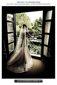 Bride in the doorway her suite at the Hotel Bellevue/Bellevue Club!  Whoa, found myself on here!!