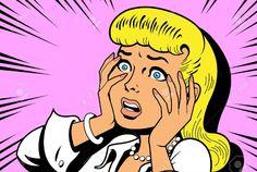 Irónico Ilustración Satírica De Un Tebeos Clásicos Retro De La Mujer Ser Una Reina Del Drama Ilustraciones Vectoriales, Clip Art Vectorizado Libre De Derechos. Pic 20686795.