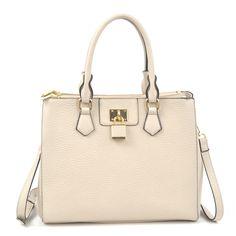 Dasein Padlock Double Zipper Satchel Handbag, Women's