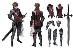 ArtStation - knight , Jooyoung Park Character Model Sheet, Character Modeling, Fantasy Character Design, Character Creation, Character Design Inspiration, Character Concept, Character Art, Game Concept Art, Armor Concept