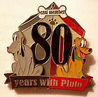 RARE! DISNEY LE 1250 CAST MEMBER EXCLUSIVE 80 YEARS WITH PLUTO PIN MOC