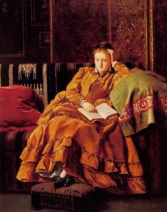Reflection :: Francis John Wyburd Art, posters and prints of a woman or women reading repinned by www.AboutHarry.com