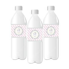 Pink Elephant Water Bottle Labels  Birthday Party  por ModParty, $9.00