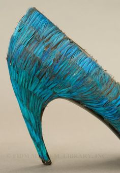 1959 Roger Vivier for Dior - Kingfisher Feathers and Leather