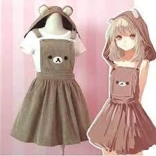 Buy Kawaii Rilakkuma Dress Cute Bear Embroidery Lolita Overall Hat at Wish - Shopping Made Fun Kawaii Shop, Kawaii Girl, Kawaii Clothes, Japanese Outfits, Japanese Fashion, Japanese Clothing, Pikachu, Kawaii Fashion, Harajuku Fashion