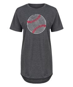 Loving this Heather Charcoal Baseball Relaxed-Fit Tunic on #zulily! #zulilyfinds