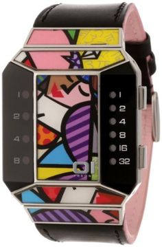 01TheOne Unisex SC123R1 Split Screen Romero Britto Art Pink Watch by 01TheOne -- Awesome products selected by Anna Churchill