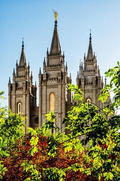 The Salt Lake City, Utah LDS (Mormon) Temple.   The Church of Jesus Christ of Latter Day Saints builds these temples all around the world where families are sealed for time and all eternity. This is the most famous of all the temples and millions of tourists come through Temple Square from all over the world throughout the year to see this unique architecture built by a fast growing religion.