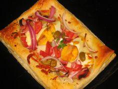 Pizza de hojaldre ~ Pasteles de colores
