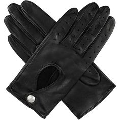 DENTS Leather keyhole driving gloves ($64) ❤ liked on Polyvore featuring accessories, gloves, accessories - gloves, dents gloves, driving gloves, stretch gloves, leather palm gloves and leather driving gloves