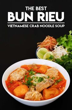 BEST Bun Rieu, Vietnamese Crab Noodle Soup - Nomnom -The BEST Bun Rieu, Vietnamese Crab Noodle Soup - Nomnom - How to make Hainanese Chicken Rice. How to make authentic Bun Rieu, Vietnamese crab noodle soup! Vietnamese Soup, Vietnamese Cuisine, Vietnamese Pho Soup Recipe, Easy Vietnamese Recipes, Soup Recipes, Cooking Recipes, Recipies, Crab Recipes, Dinner Recipes