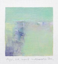 "Apr. 26, 2018 9 cm x 9 cm (app. 4"" x 4"") oil on canvas © 2018 Hiroshi Matsumoto www.hiroshimatsumoto.com"