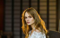 Download wallpapers Anastasia Scheglova, beauty, portrait, photomodels, girls, blonde