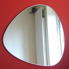 Pebble Shaped Mirrors  Triangular  3 Sizes Available