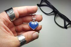 Blue Heart Necklace  - Design Işıltan Irmak