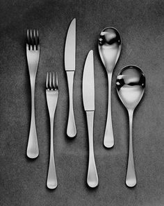 Alverston Old Hall Robert Welch cutlery - so simple & really beautiful, not to mention lovely to hold - smooth and graceful