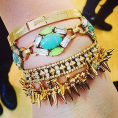 A colourful, fresh arm party - taking you from Winter to Spring in less than a second! | Stella & Dot
