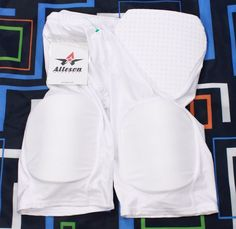 Padded Football Girdle Sz L Alleson Athletic Mens Adult White New #Alleson