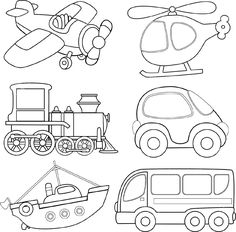 Illustration Of Cartoon Transport Coloring Book Vector Art Clipart And Stock Vectors