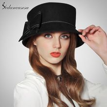 Página 5. Sedancasesa europa americana sombreros mujeres 100% lana  australiana cloche fedora sombreros para las mujeres invierno otoño ... f1ccef2bbf04