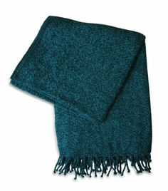 Amazon.com - Jovi Home Royal Chenille Hand Woven Throw 50-Inch-by-60-Inch, Teal