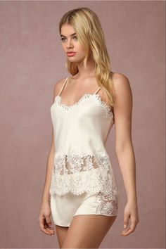 Shop our vintage-inspired bridal lingerie collection. BHLDN offers a variety of wedding lingerie perfect for your wedding night and beyond! Jolie Lingerie, White Lingerie, Pretty Lingerie, Luxury Lingerie, Beautiful Lingerie, Sexy Lingerie, Lingerie Sets, Lingerie Underwear, Wedding Night Lingerie