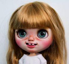 Custom Doll for Adoption  by WowJoBlythe - http://etsy.me/2p5tCRT Check the weekly dolls for adoption here: http://ift.tt/2lbVttq