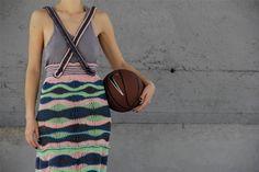 Wavy A-Line Long Skirt.