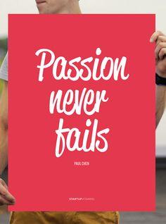 Paul Chen: Passion never fails