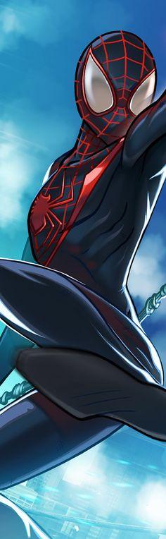 Spider-Man Miles Morales Panel Art by RichBernatovech on DeviantArt