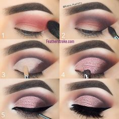 Rose eye look #eyeshadow