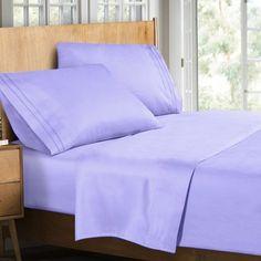 Clara Clark Supreme Sheet Set Color: Lavender, Size: Queen