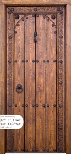 This can be done with time and PATIENCE with no small amount of Skill either. Wooden Gates, Wooden Doors, Door Design, House Design, Castle Doors, Cabin Doors, Modern Front Door, Knobs And Knockers, Cool Doors