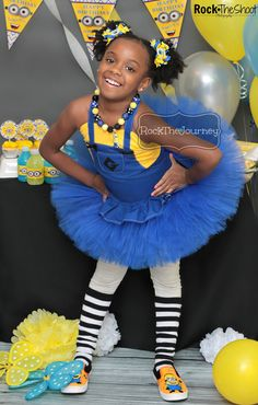 Blue or Pink Minion Girl Halloween Costume by RockTheJourney