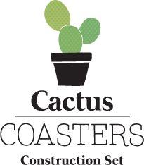 Cactus Coaster Construction Set : Create cacti out of interlocking drink mats.