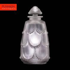 ANTIQUE 20thC FRENCH RENE  LALIQUE PERLES HUGE GLASS PERFUME BOTTLE c.1926