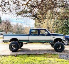 Jacked Up Trucks, Dually Trucks, Old Ford Trucks, Old Pickup Trucks, Diesel Trucks, Cool Trucks, Big Trucks, Obs Truck, Ford Obs