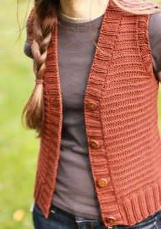 Vest Knitting Pattern | The Brown Stitch Woods Road Vest