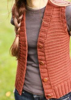 Vest Knitting Pattern   The Brown Stitch Woods Road Vest